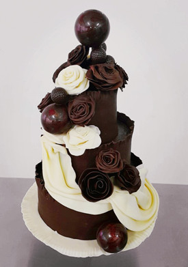 Professional Chocolate Wedding Cake Pastry And Baking School 烘焙学院